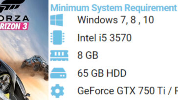 Forza horizon 3 Pc system requirements 6