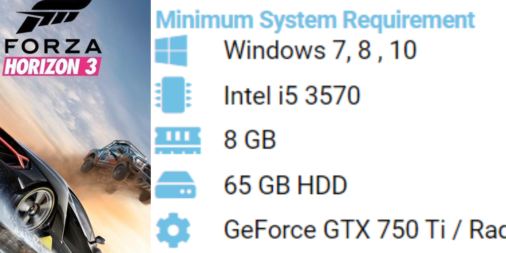 Forza horizon 3 Pc system requirements 7