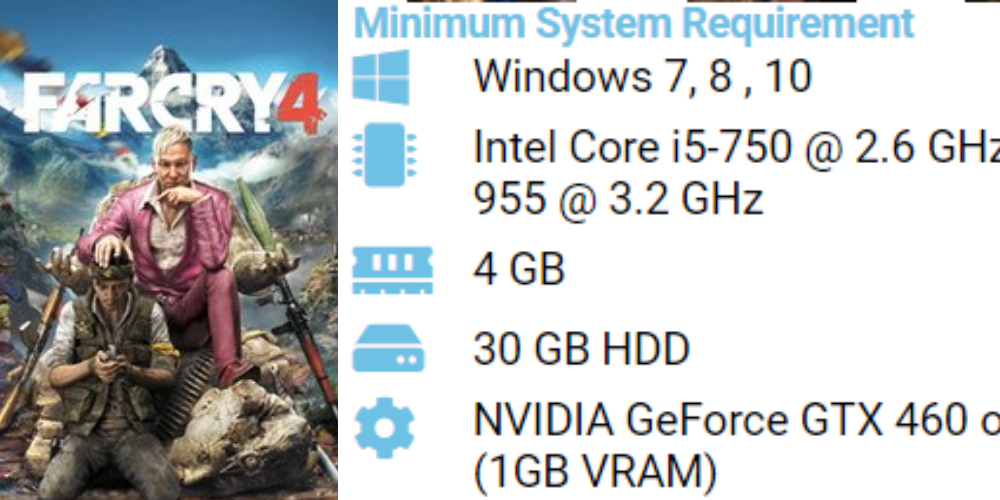 Far Cry 4 pc system requirements 13