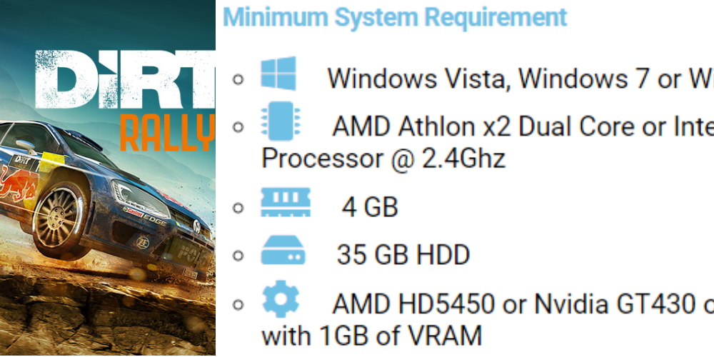 Dirt Rally pc system requirements 8