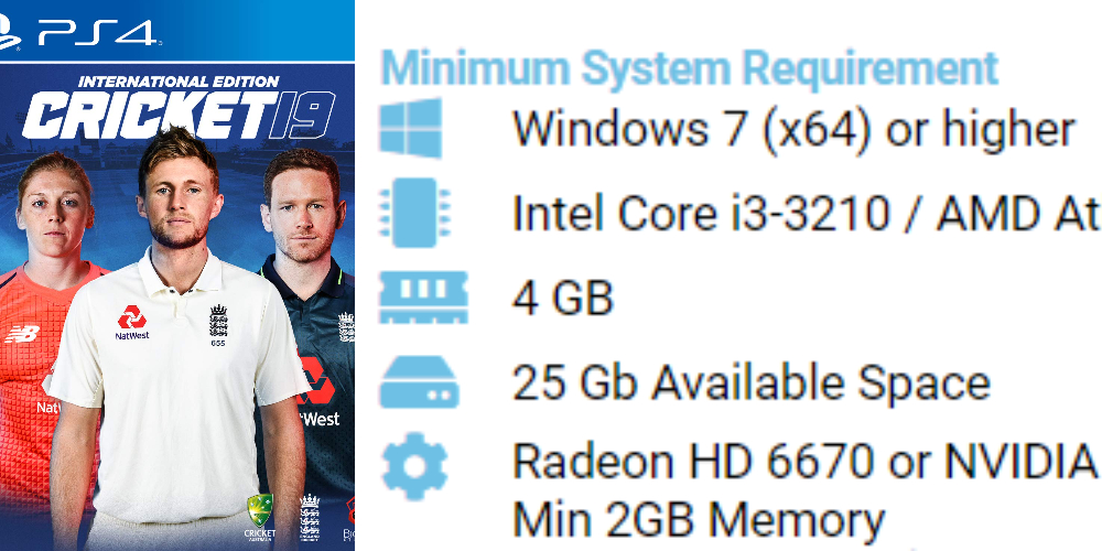 Cricket 19 Pc system requirements
