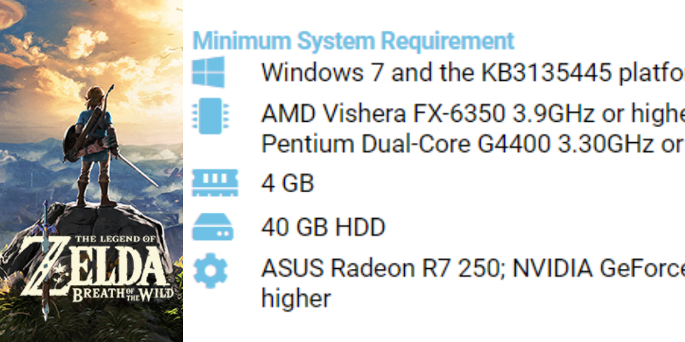 Legend of Zelda: Breath of the Wild Pc system requirements [ 2021 ]