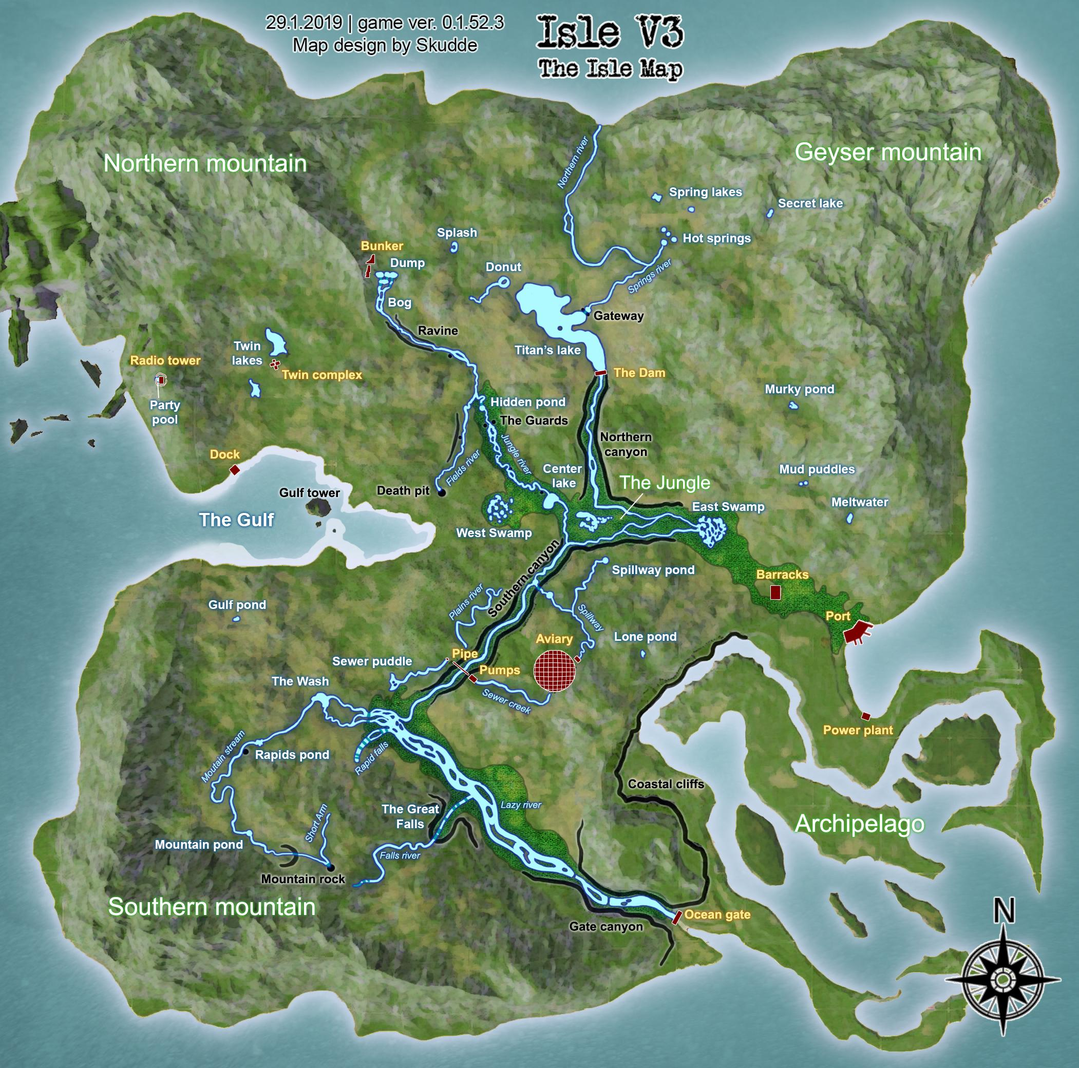 the isle map