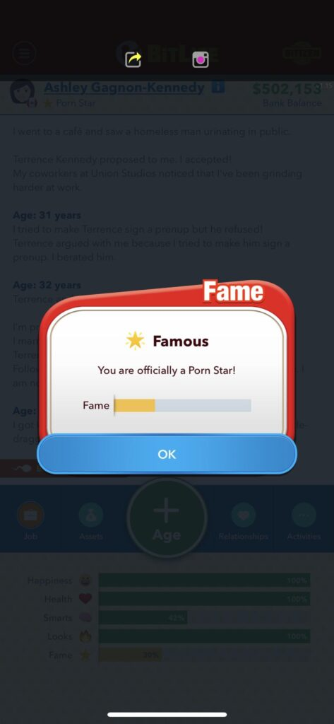 Bitlife [Guide]: how to become famous and grow social media 1
