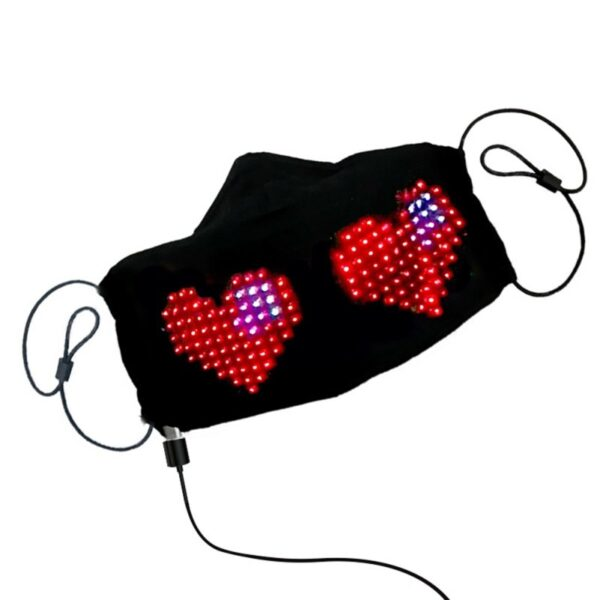 LED Luminous Mask Mobile Phone APP Edit Pattern Text Bungee Advertising Display Masks Module Matrix Programmable Christmas Gift