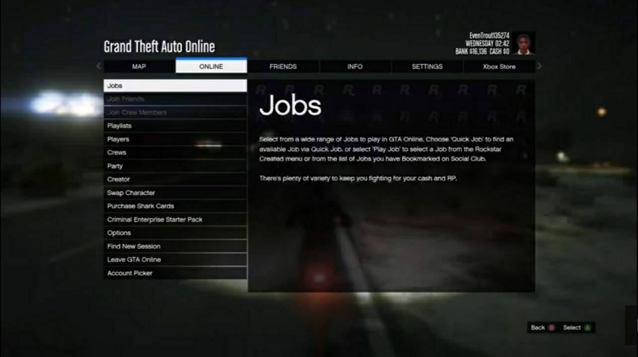 get a job in GTA 5