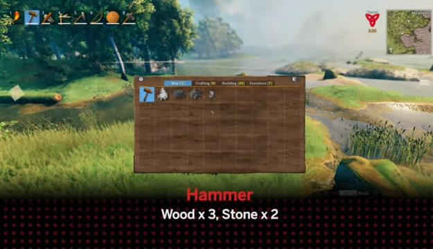 Hammer to unlock Valheim workbench