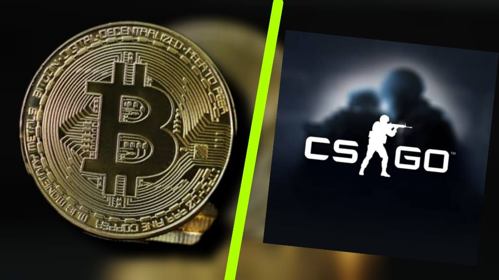 Cyptocurrency with csgo logo