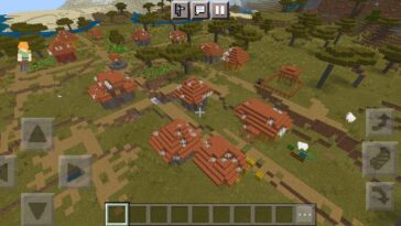 1388582293 - Redwood Village with a lot of Loot in it | Best Minecraft seed 2021.