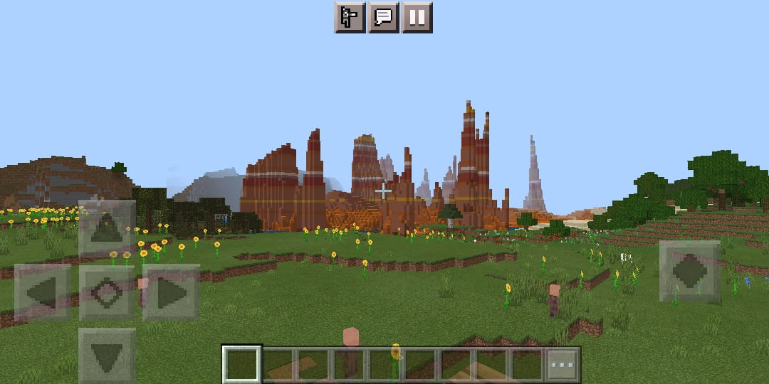76099 - Seed with two biomes and a village | Biome show.