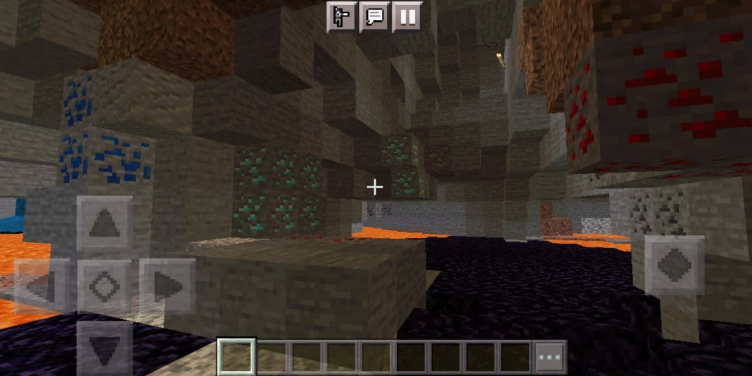 Yeet - Village with Ravine with a lot of diamonds and Lapiz lazuli in it.